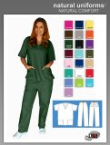 Natural Uniforms Two Piece Scrub Suit - Hunter