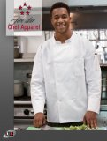 18017 Five Star Unisex Long Sleeve Moisture Wicking Chef Coat