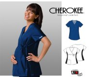 Cherokee Maternity Wrap Top Red