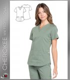 Cherokee Workwear Professionals Women's V-Neck Solid Scrub Top